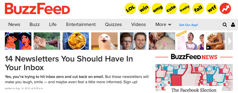 Uncubed's Wakefield on Buzzfeed list of top newsletters