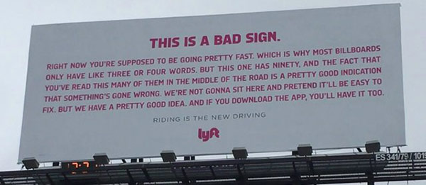 lyft billboard