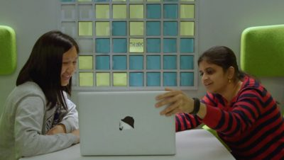 Sahana Subbanna, Front-End Developer, and Phuc Anh Tran, Front-End Developer, at IBM Watson