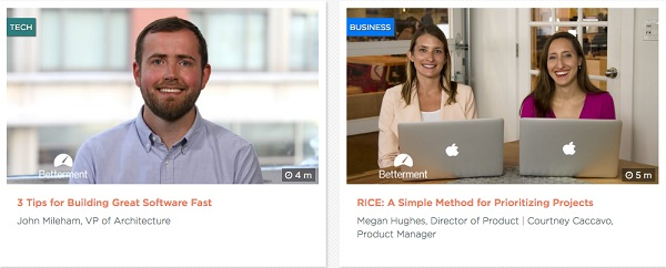 Online learning from Betterment - jobs and careers from Uncubed